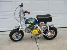 "My Bikes - 1968 Honda - ""Rossi - Stroker motor. Honda Z50, Dirt Bike Gear, Dirt Bikes, Custom Mini Bike, 4 Wheel Bicycle, Cool Car Pictures, Car Pics, Small Motorcycles, Mini Chopper"