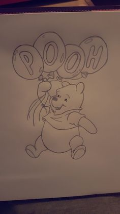 PoohBear – # PoohBear … – Graffiti World Cute Disney Drawings, Cool Art Drawings, Pencil Art Drawings, Art Drawings Sketches, Easy Drawings, Animal Drawings, Drawing Disney, Character Drawing, Disney Art