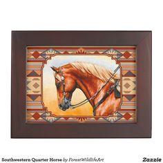 Southwestern Quarter Horse Memory Box