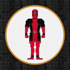 (10) Name: 'Embroidery : Deadpool Cross Stitch Pattern/Chart
