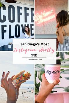 San Diego Instagram Spots | Things to do in San Diego | Downtown | North Park | Coffee and Flowers | Holy Matcha | Greetings from San Diego #sandiego #california