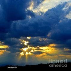 Title:  Dramatic Clouds   Artist:  Pamela Briggs-Luther   Medium:  Photograph - Photography-digital Art