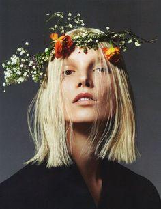 Suvi Koponen by Mert & Marcus for Vogue Paris, March 2013 Flower Crowns, Crown Flower, Floral Crown, Rose Crown, Vogue Beauty, Fashion Beauty, Fashion Face, Vogue Fashion, High Fashion