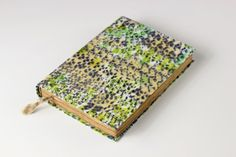 Journal diary notebook old paper batik fabric blank book by Patiak