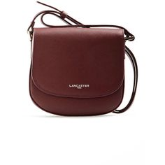 Lancaster Adele Mini Messenger Bag in Burgundy (350 SAR) ❤ liked on Polyvore featuring bags, messenger bags, burgundy, zipper bag, courier bag, mini zip bags and zipper messenger bag