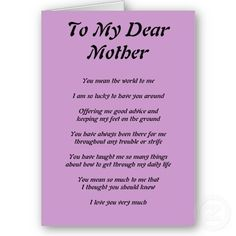 Best birthday quotes for daughter from mom love 38 ideas Poem For My Mom, Happy Mothers Day Poem, Mom Quotes From Daughter, Mother Poems, Mom Poems, Mothers Day Quotes, Mom Son, Birthday Poems, Best Birthday Quotes