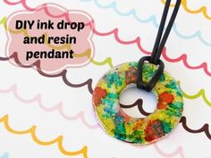DIY ink drop and resin pendant tutorial