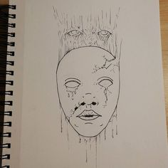 Working On A New Coloring Page Art Horror Face Mask