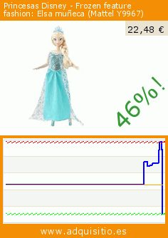 Princesas Disney - Frozen feature fashion: Elsa muñeca (Mattel Y9967) (Juguete). Baja 46%! Precio actual 22,48 €, el precio anterior fue de 41,95 €. https://www.adquisitio.es/princesas-disney/frozen-feature-fashion