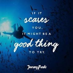 If it scares you, it might be a good thing to try! ✈  #TravelWithFriends #TravelPH #JourneyFreaks