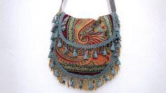 gypsy tapestry bag hippie bag.bohemian bag by allthingsoldarenew, $180.00
