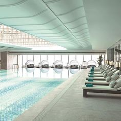 Who says it needs to be summer to relax by the pool? The indoor sky-dome lap pool at Jing An Shangri-La, West #Shanghai is ready for you all year round.