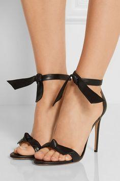 Alexandre Birman | Clarita bow-embellished leather sandals | NET-A-PORTER.COM