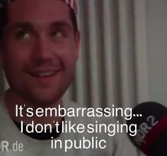 Dan Smith of Bastille, the singer that doesn't like singing in public