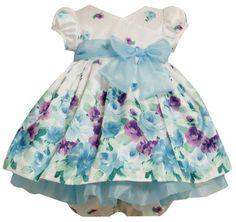 Bonnie Baby Girls Newborn Border Print Shantung Dress $33.95 - $39.19