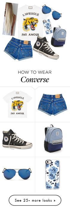 """Untitled #378"" by haeys on Polyvore featuring Gucci, Converse, Casetify, Victoria's Secret and Victoria Beckham"