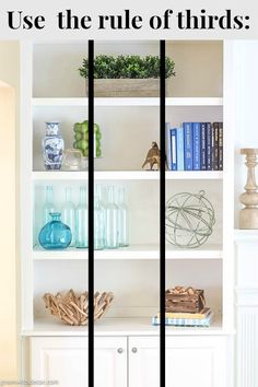 Wow, these bookshelves are GORGEOUS! This post walks through how to decorate bookshelves from start to finish and has plenty of bookshelf decorating ideas if Styling Bookshelves, Decorating Bookshelves, Bookshelf Design, Bookshelf Ideas, Book Shelf Decorating Ideas, Bookshelf In Kitchen, How To Decorate Bookshelves, Organize Bookshelf, How To Decorate Living Room