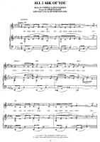 The Phantom of the Opera - All I Ask Of You - Free Downloadable Sheet Music