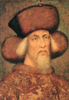 ❤ - PISANELLO (1395 – 1455) - Portrait of Emperor Sigismund of Luxembourg.  Kunsthistorisches Museum, Vienna.