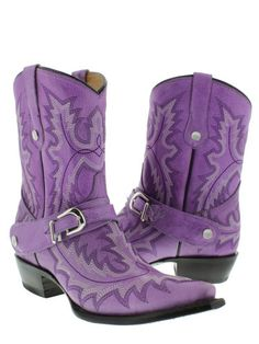 Women's Buckle Cowboy Boots ~ comfort and cute!