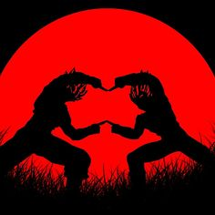 Red Moon Fusion Available as T-Shirts & Hoodies, Stickers, iPhone Cases, Samsung Galaxy Cases, Posters, Home Decors, Tote Bags, Prints, Cards, and iPad Cases fusion, dragon ball, dragon, ball, goku, son, son goku, vegeta, gogetu, saiyan, saiyan fusion, anime, manga, silhouette, red moon