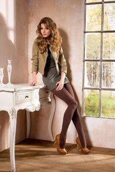 """"""" Averoj 09 """" Warm & Sexy 3D Patterned Cotton Tights - Aurellie"""
