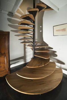 Use these awesome spiral staircase in your home. Over thirty spiral staircase ideas you can implement in your design. Feed your design ideas now. Home Stairs Design, Interior Stairs, Interior Architecture, House Design, Interior Design, Stair Design, Staircase Architecture, Nest Design, Railing Design