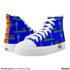 Greefootprint Printed Shoes