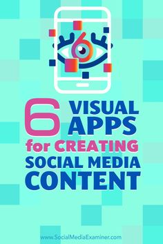 Do you need to create content on the go?  A number of mobile apps let you create professional-looking images, animations, and video using only your mobile device.  In this article, you'll discover six mobile apps to create content for your social media profiles. #socialmedia #radicalmarketing #marketingtrends
