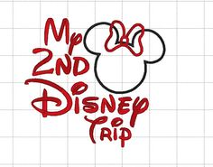 Minnie or Mickey Mouse Applique Disney My by LauraBethDesignsLLC