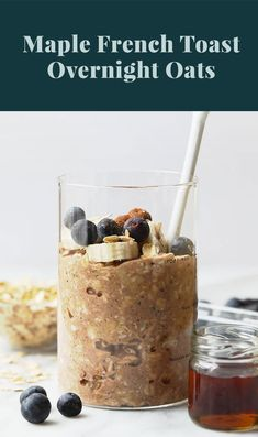 Have your french toast and oatmeal too. Make Maple French Toast Vegan Overnight Oats for an easy, make-ahead breakfast that's packed with maple and cinnamon flavor! This healthy vegan overnight oats recipe is high in fiber and whole grains. Make Ahead Breakfast, Healthy Breakfast Recipes, Breakfast Bites, Vegan Breakfast, Healthy Eating, Rolled Oats Recipe, Vegan Overnight Oats, Dog Recipes, Vegan Recipes