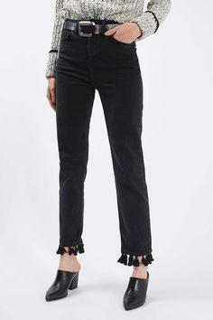 MOTO Tassel Hem Straight Leg Jeans - Jeans - Clothing - Topshop Europe