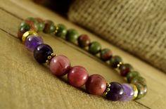 Hey, I found this really awesome Etsy listing at https://www.etsy.com/listing/287911145/rhodonite-bracelet-women-stones-unakite