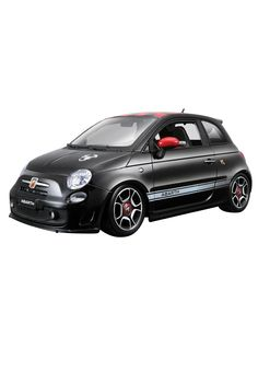 Brand new scale diecast model car of 2008 Fiat 500 Abarth Black die cast model car by Bburago. Fiat 500, Plastic Model Cars, Automobile Industry, Rubber Tires, Diecast Model Cars, Rc Cars, Vehicles, Hot, Roads