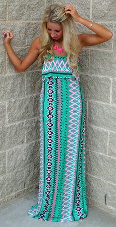 ATIO HANGOUT AZTEC MAXI DRESS $54.99