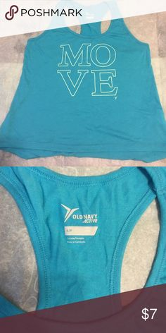 Cute Workout tank!! Super comfy tank,  teal in color. GUC Old Navy Tops Tank Tops
