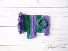 Purple and Green crocheted doggie sweater by prettylilpieces, $15.00