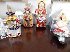 4 KURT ADLER POLONAISE ALICE ORNAMENTS QUEEN OF HEARTS JACK MORE