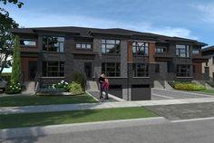 Vert Urbain La Rive, Laval, Loft, Construction, Sidewalk, House Styles, Home Decor, Urban, House