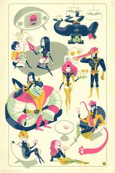 """The X Lounge""  by Glen Brogan | X-Men"