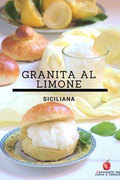 In #estate in #sicilia la #colazione si fa con la #granita al #limone, #fresca e #dissetante da gustare da sola o con le #brioche con o senza #tuppo. E', inoltre, molto #facile e #veloce da realizzare in casa e ha meno #calorie di un comune gelato.