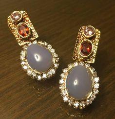 Garnet n Quartz Earings.