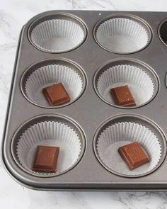 Chokladfyllda chokladmuffins - Lindas Bakskola & Matskola Cupcakes, Cupcake, Muffin, Muffins