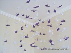 Decoração das Bodas de Papel da Jéssica http//blog.sakuraorigami.com