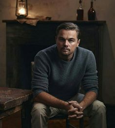 This may be my favorite photo of anyone ever! I'm drooling a little. And can't breathe..... Haha. Leonardo Dicaprio, Actors & Actresses, Men Sweater, Chanel, Celebrities, Tumblr, Mens Tops, Crushes, Handsome