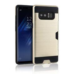 Samsung Galaxy Note 8 Armor Case med Kortförvaring - Guld