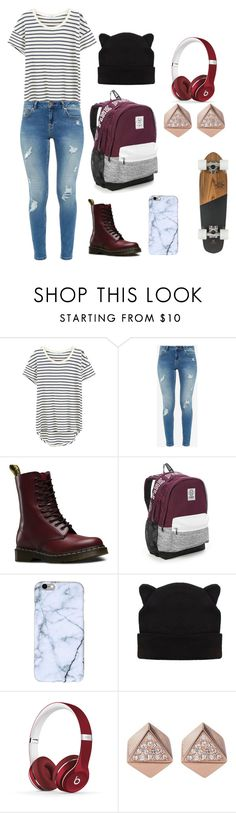 """Skater Girls dream"" by skater-girl-chloe ❤ liked on Polyvore featuring Splendid, Ted Baker, Dr. Martens, Victoria's Secret, Beats by Dr. Dre and FOSSIL"