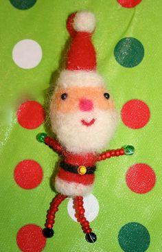 My needle felted Santa
