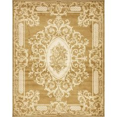 Victoria Gold 8 ft. x 10 ft. Area Rug