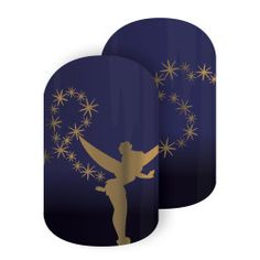 You Can Fly | Jamberry Disney Tinker Bell and her trail of pixie dust light up as she soars through the night sky in this midnight blue-and-gold metallic design.